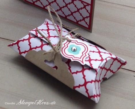 Stampin Up - Stempelherz - Mosaic Madness - Geburtstagskarte - Pillowbox - Stanze Gewellter Anhaenger - Geburtstagsset Alles Gute 02