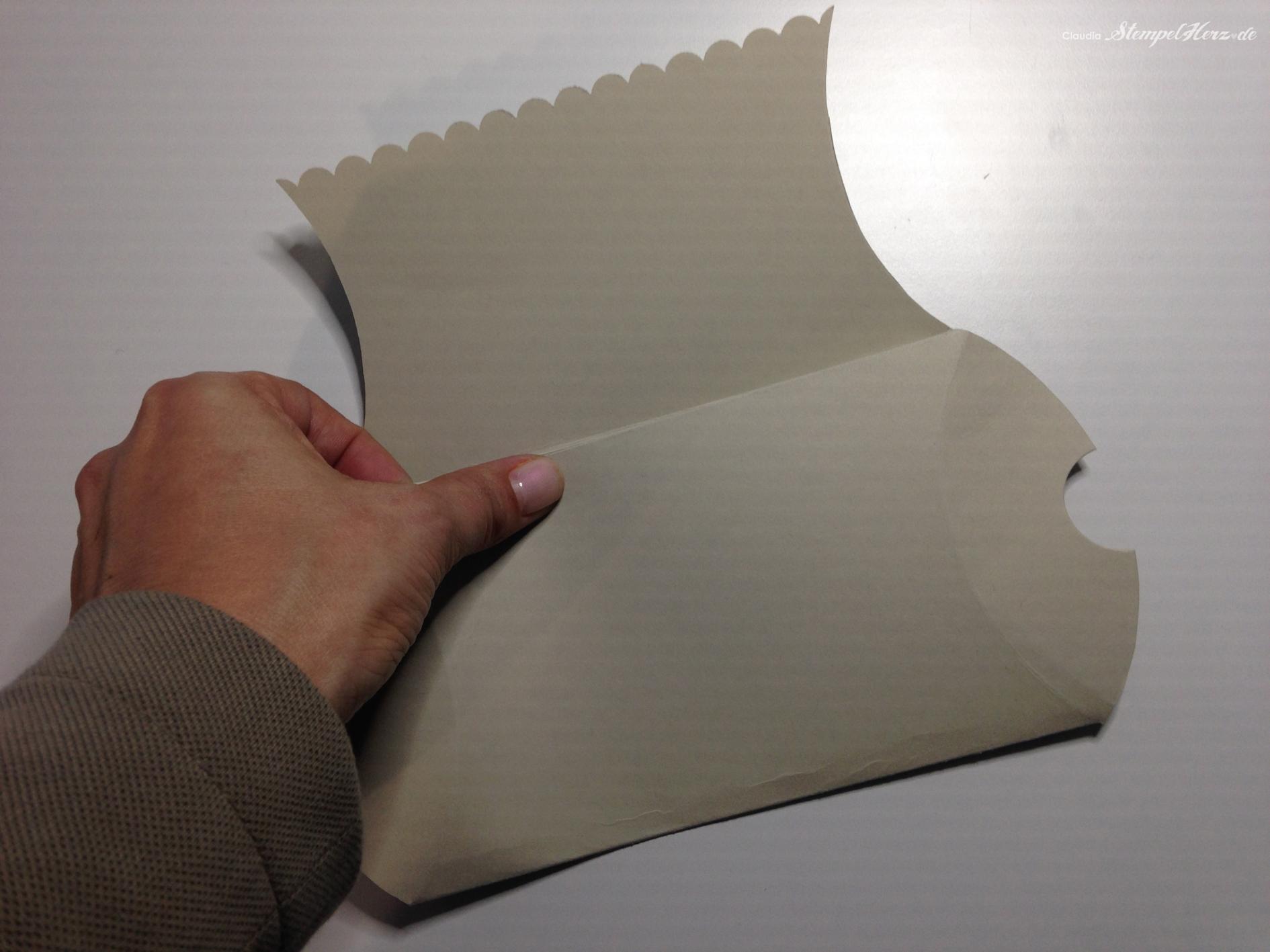 Pillow Box Basteln pillow box die anleitung stin up mit stempelherz