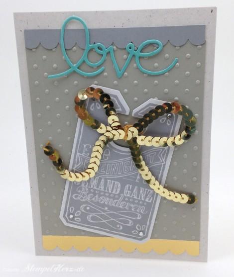 Stampin Up - Stempelherz - Grußkarte - Tafelrunde - Framelits Tafelrunde - Praegeform Perfect Polka Dots - Wellenkantenstanze - Grußkarte Love 01