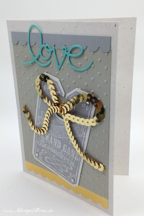 Stampin Up - Stempelherz - Grußkarte - Tafelrunde - Framelits Tafelrunde - Praegeform Perfect Polka Dots - Wellenkantenstanze - Grußkarte Love 03