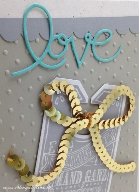 Stampin Up - Stempelherz - Grußkarte - Tafelrunde - Framelits Tafelrunde - Praegeform Perfect Polka Dots - Wellenkantenstanze - Grußkarte Love 04