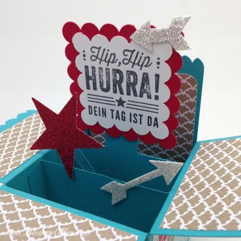 Stampin Up - Stempelherz - Kartenbox - Geburtstagskarte - Kartenset Hip, hip, hurra! - Kartenbox Hip, hip, hurra! 03