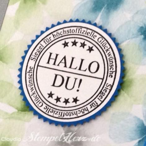 Stampin Up - Stempelherz - Notizbuch - Designerpapier Farbenwunder - Notizbuch Hallo Du 04