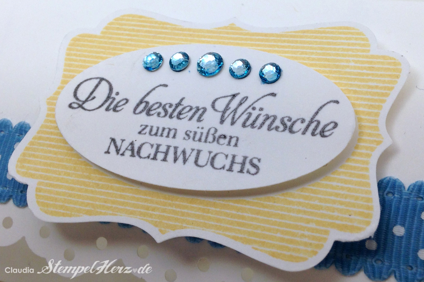 """Pillowbox """"Zum süßen Nachwuchs"""""""