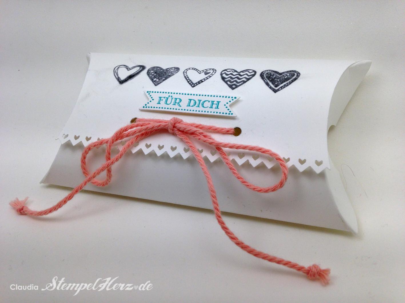 """Pillowbox """"Für dich"""" mit Liebe gemacht…"""