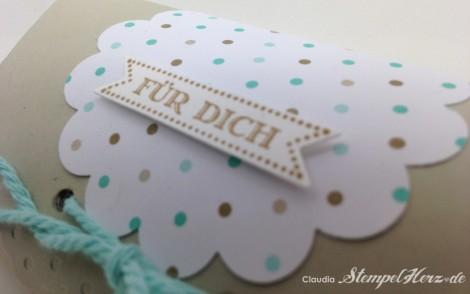 Stampin Up - Stempelherz - Pillowbox - Verpackung - Famose Faehnchen - Wellenkreisstanze - Framelits Famose Faehnchen - Pillowbox Fuer Dich 03