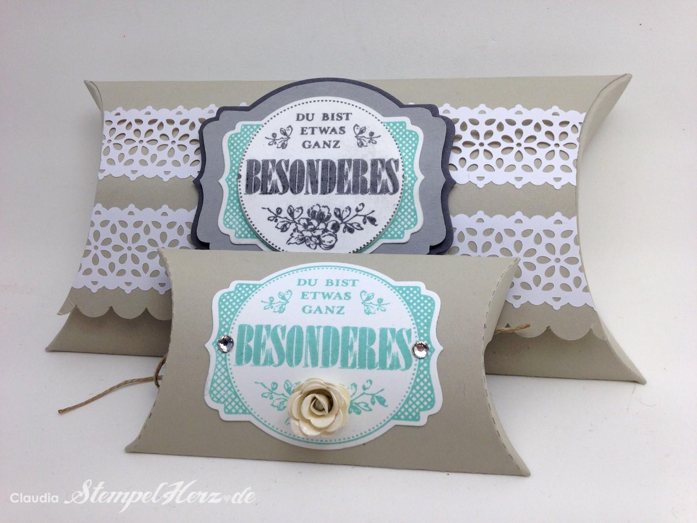 Pillow Box – Die Anleitung
