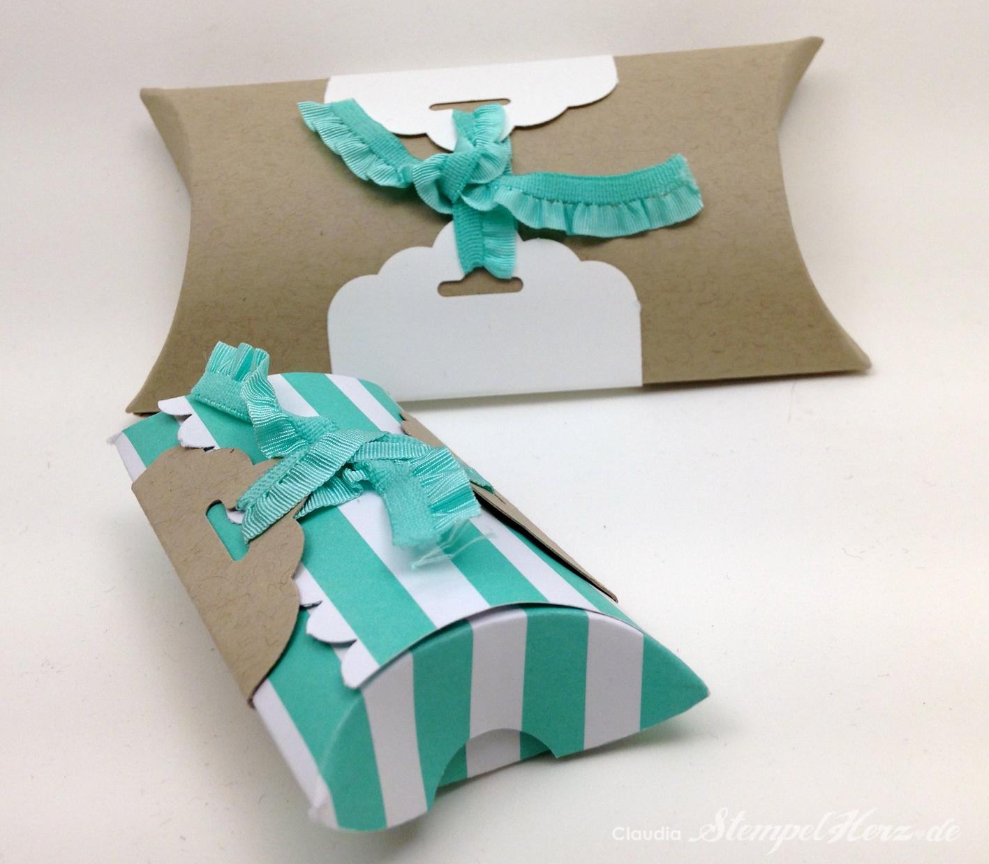 Schlichte Pillowboxen