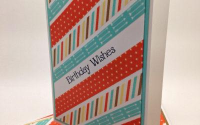 Schnelles Geburtstagskarten-Set mit Washitape