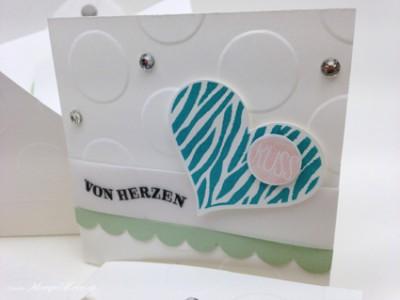 Stampin Up - Stempelherz - Stempelset Herzklopfen - Stanze Herzblatt - Kartenset Von Herzen 05 Kopie