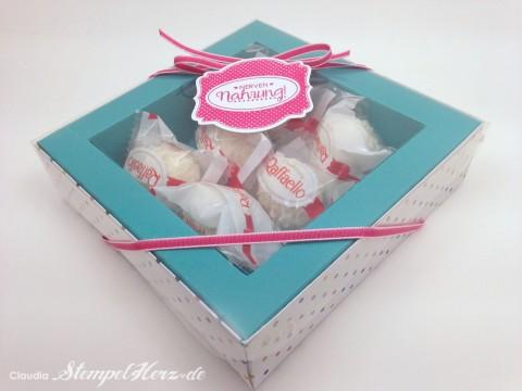 Stampin Up - Stempelherz - Verpackung - Box - Schachtel - Nervennahrung - Geschenk - Ach du meine Gruesse - Framelits Etikett Kunst - Verpackung Nervennahrung 01