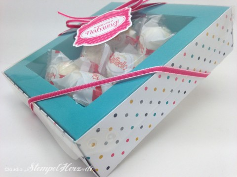 Stampin Up - Stempelherz - Verpackung - Box - Schachtel - Nervennahrung - Geschenk - Ach du meine Gruesse - Framelits Etikett Kunst - Verpackung Nervennahrung 02