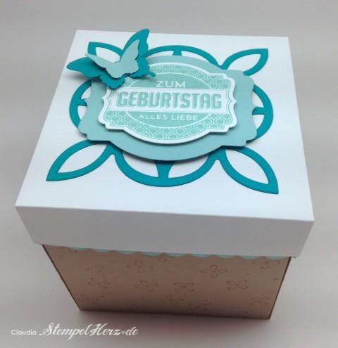 Stampin Up - Stempelherz - Verpackung - Lindt-Schokolade - Box - Ach du meine Grueße - Framelits Etikett-Kunst - Geburtstag - Geschenk - Verpackung Zum Geburtstag alles Liebe 06