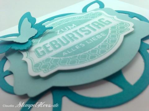 Stampin Up - Stempelherz - Verpackung - Lindt-Schokolade - Box - Ach du meine Grueße - Framelits Etikett-Kunst - Geburtstag - Geschenk - Verpackung Zum Geburtstag alles Liebe 10