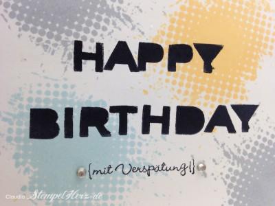 Stempelherz - Geburtstagskarte - So 80's - Geburtstagskarte Happy Birthday So 80's 02
