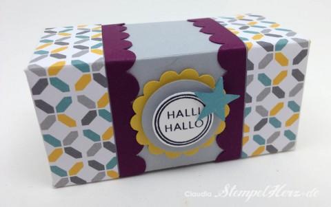 Stampin Up - Stempelherz - Box - Verpackung - Knallbonbon - Teleskopbox - Hallihallo - Doppelseitige Teleskopbox Halli Hallo 07