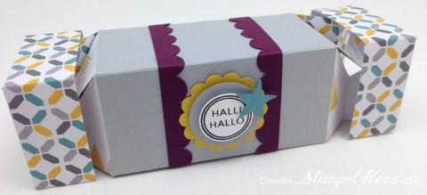 Stampin Up - Stempelherz - Box - Verpackung - Knallbonbon - Teleskopbox - Hallihallo - Doppelseitige Teleskopbox Halli Hallo 08