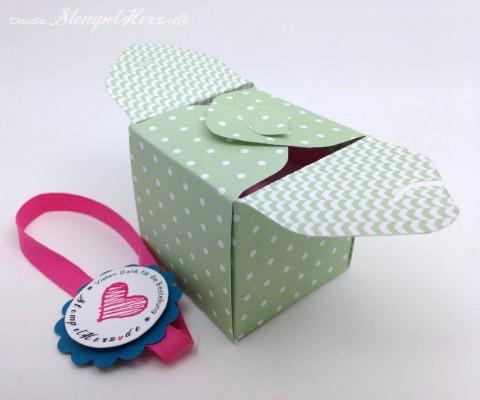 Stampin Up - Stempelherz - Box - Verpackung - Spruchreif - Anleitung - Envelope Punchboard - Box Vielen Dank 04
