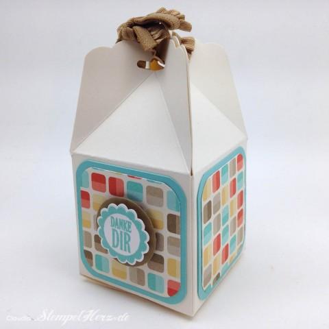 Stampin Up - Stempelherz - Box - Verpackung - Stanze Gewellter Anhaenger - Eine runde Sache - Box Danke Dir 02