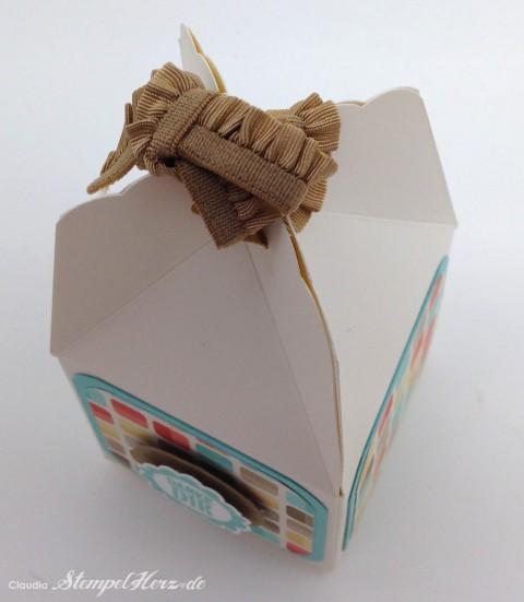 Stampin Up - Stempelherz - Box - Verpackung - Stanze Gewellter Anhaenger - Eine runde Sache - Box Danke Dir 05