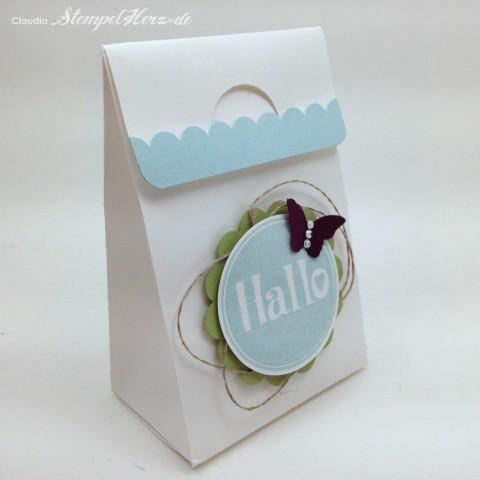 Stampin Up - Stempelherz - Tuete - Box - Verpackung - @hallo - Tuete Hallo 01
