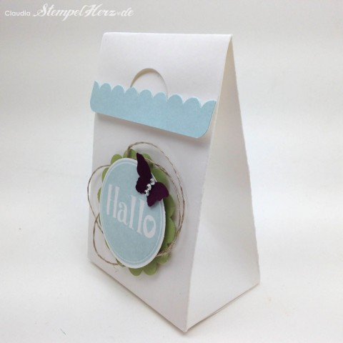 Stampin Up - Stempelherz - Tuete - Box - Verpackung - @hallo - Tuete Hallo 04