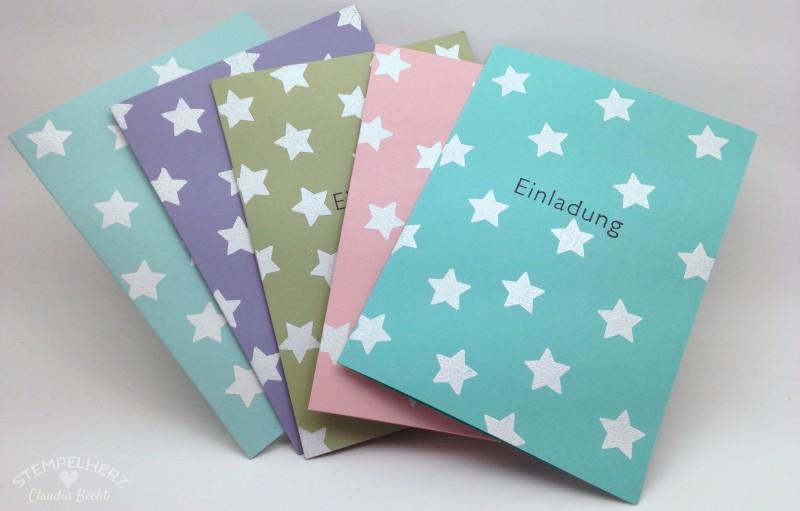 Stampin Up - Stempelherz - Einladungskarten zu Leas 9. Geburtstag 02