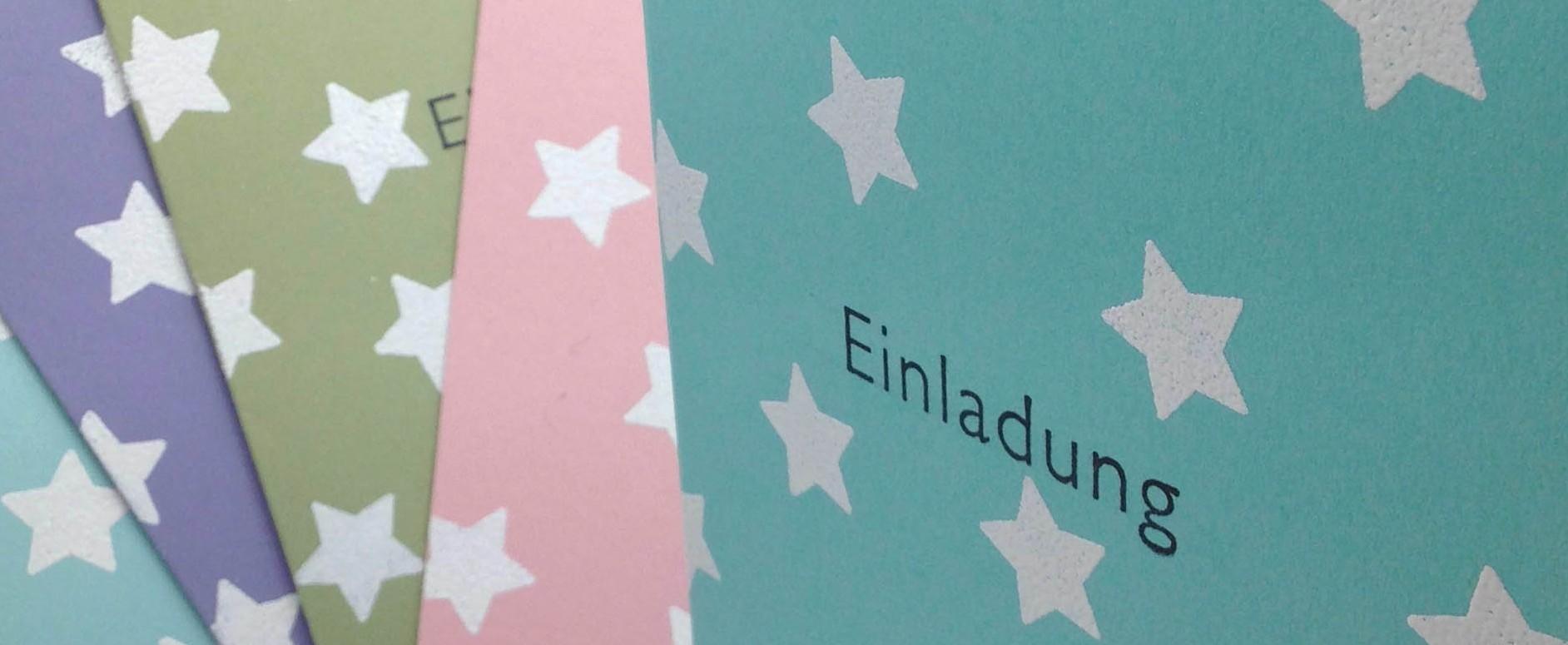 Einladungskarte zum Kindergeburtstag