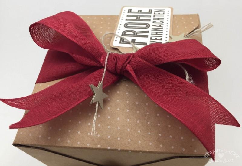 Stampin Up - Stempelherz - Geschenkbox Frohe Weihnachten