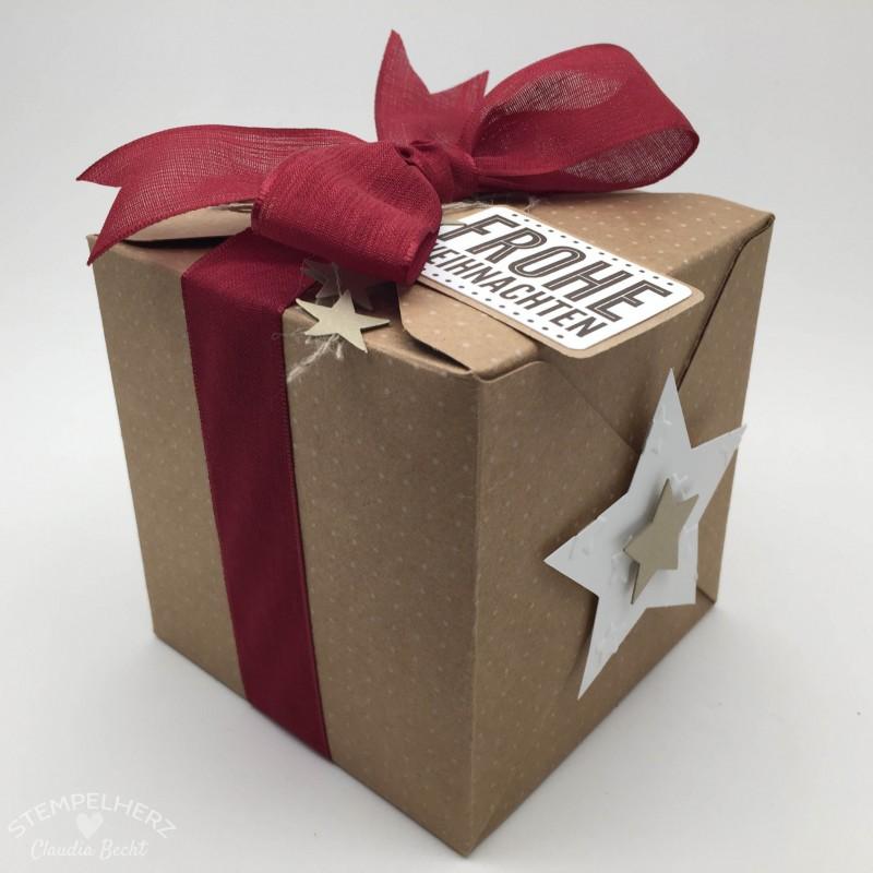 Stampin Up - Stempelherz - Geschenkbox Frohe Weihnachten 03