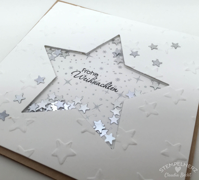 Eine weihnachtliche sch ttelkarte stampin 39 up mit stempelherz - Pinterest weihnachtskarten ...