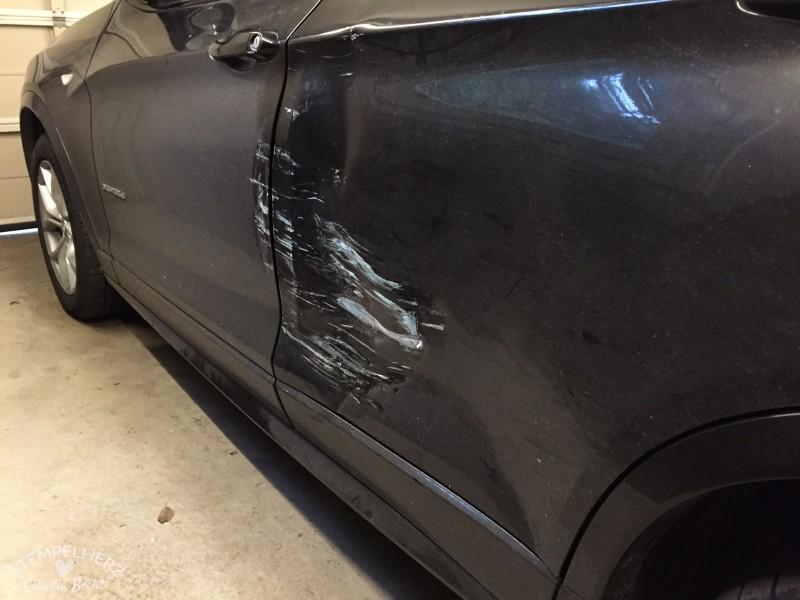 Demoliertes Auto