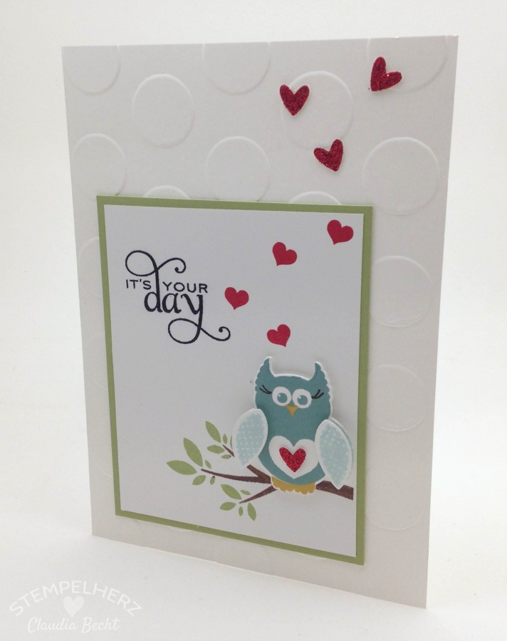 Stampin Up - Stempelherz - Geburtstagskarte It's your day 01