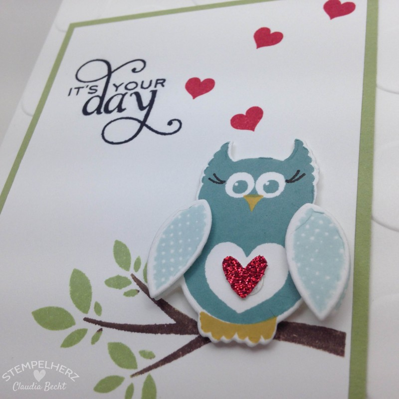 Stampin Up - Stempelherz - Geburtstagskarte It's your day 05
