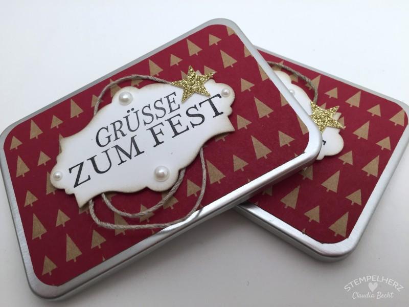 Stampin Up - Stempelherz - Gutschein in der Dose - Framelits Nostalgische Etiketten - Gruesse zum Fest - Gutschein in der Dose von Stempelherz 02