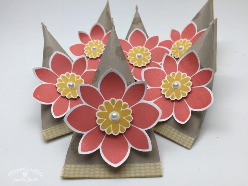 Stampin Up - Stempelherz - Sour Creme Box - Verpackung - Petal Potpurri - Motivklebeband - Sour Creme Box mit Blume 01