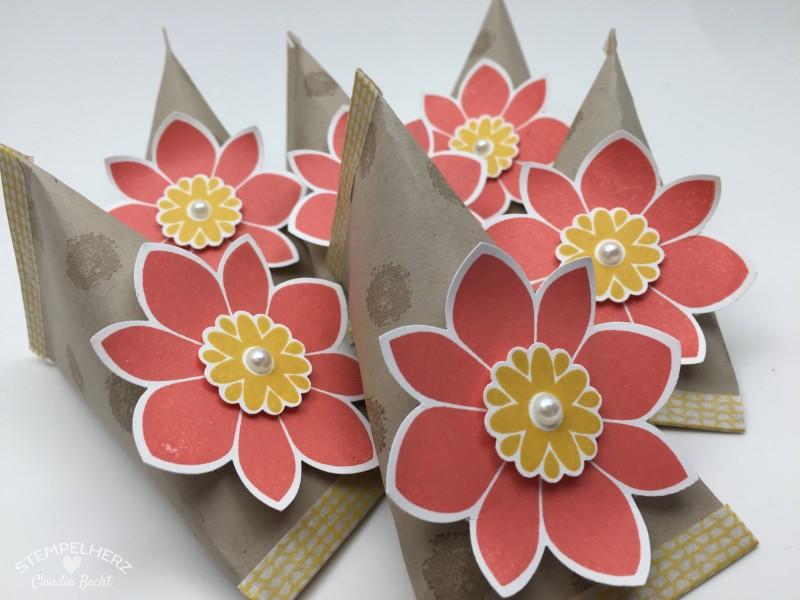 Stampin Up - Stempelherz - Sour Creme Box - Verpackung - Petal Potpurri - Motivklebeband - Sour Creme Box mit Blume 03