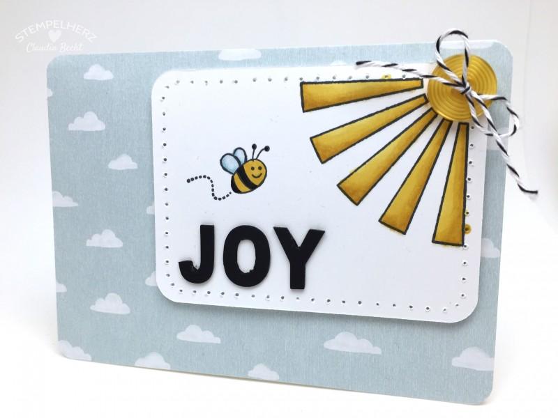 Stampin Up - Stempelherz - Grußkarte - Stempelset Gluecksmomente - Stempelset Supersueß - Mix-Marker - Grusskarte Joy 01
