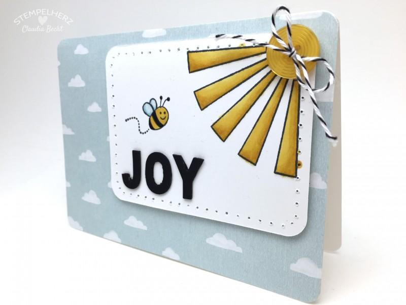 Stampin Up - Stempelherz - Grußkarte - Stempelset Gluecksmomente - Stempelset Supersueß - Mix-Marker - Grusskarte Joy 02