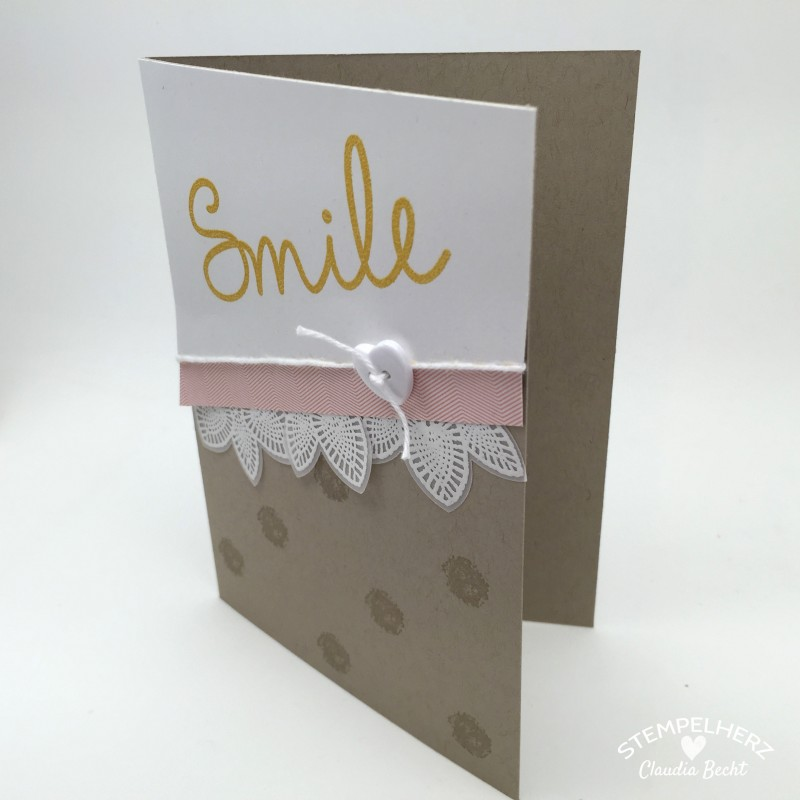 Stampin Up - Stempelherz - Grusskarte - Petal Potpourri - So You - Karte Smile 01