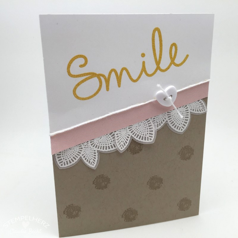 Stampin Up - Stempelherz - Grusskarte - Petal Potpourri - So You - Karte Smile 02