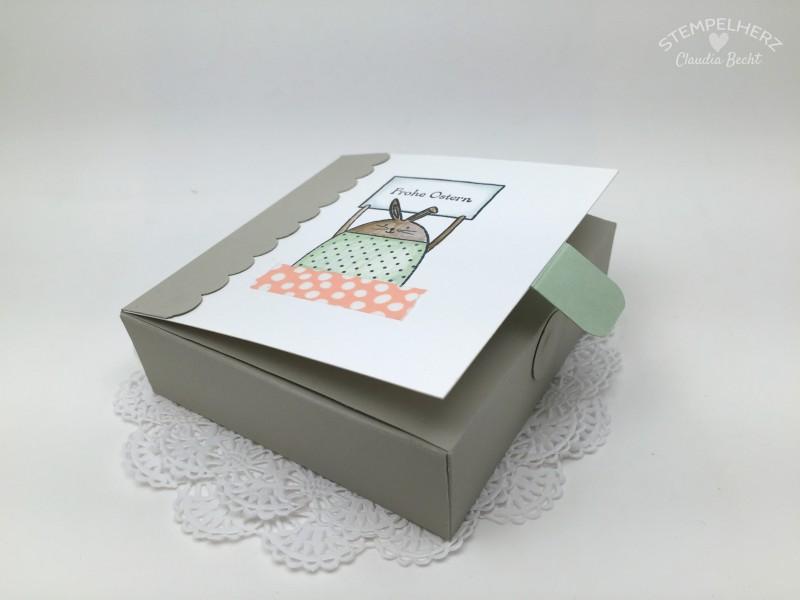 Stampin Up-Stempelherz-Ostern-Schachtel-Box-Verpackung-Ei ei ei-Cheerful Critters-Tutorial-Videoanleitung Oster-Schachtel 08