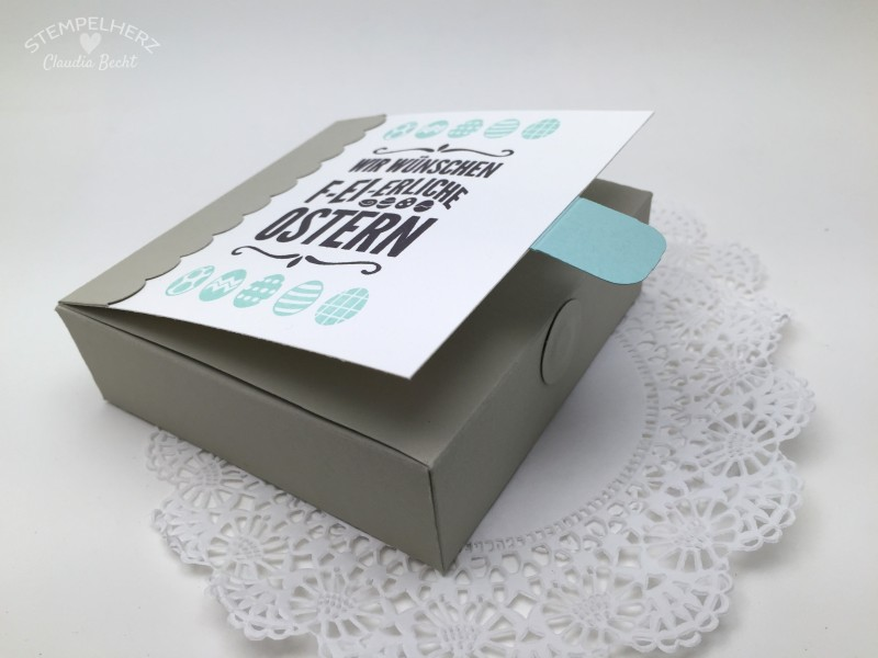 Stampin Up-Stempelherz-Ostern-Schachtel-Box-Verpackung-Ei ei ei-Cheerful Critters-Tutorial-Videoanleitung Oster-Schachtel 11