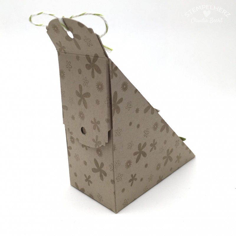 Stampin Up-Stempelherz-Sandwichbox-Verpackung-Box-Famose Faehnchen-Pictogram Punches-Petite Petals-Sandwichbox Danke 04