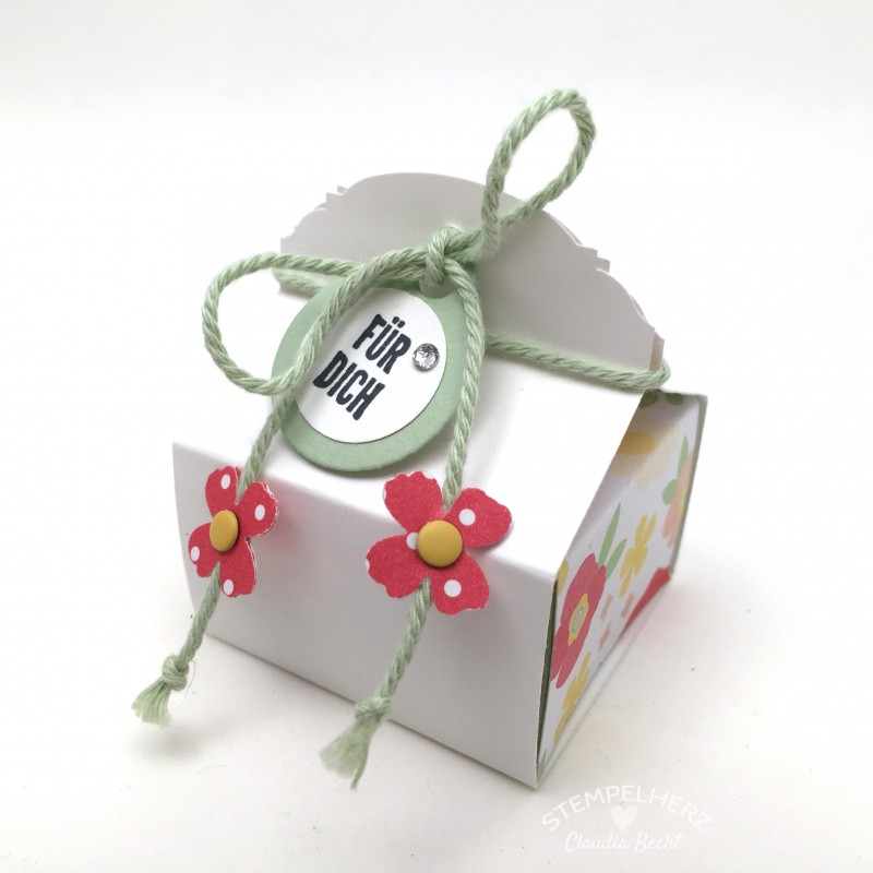 Stampin Up-Stempelherz-Videoanleitung-Verpackung-Box-Schachtel-Mini-Pralinenschachtel-Pralinenbox-Honigsuesse Gruesse-Mini-Pralinenschachteln 01