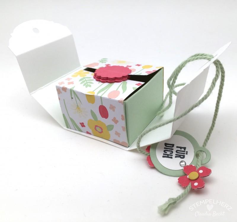 Stampin Up-Stempelherz-Videoanleitung-Verpackung-Box-Schachtel-Mini-Pralinenschachtel-Pralinenbox-Honigsuesse Gruesse-Mini-Pralinenschachteln 02