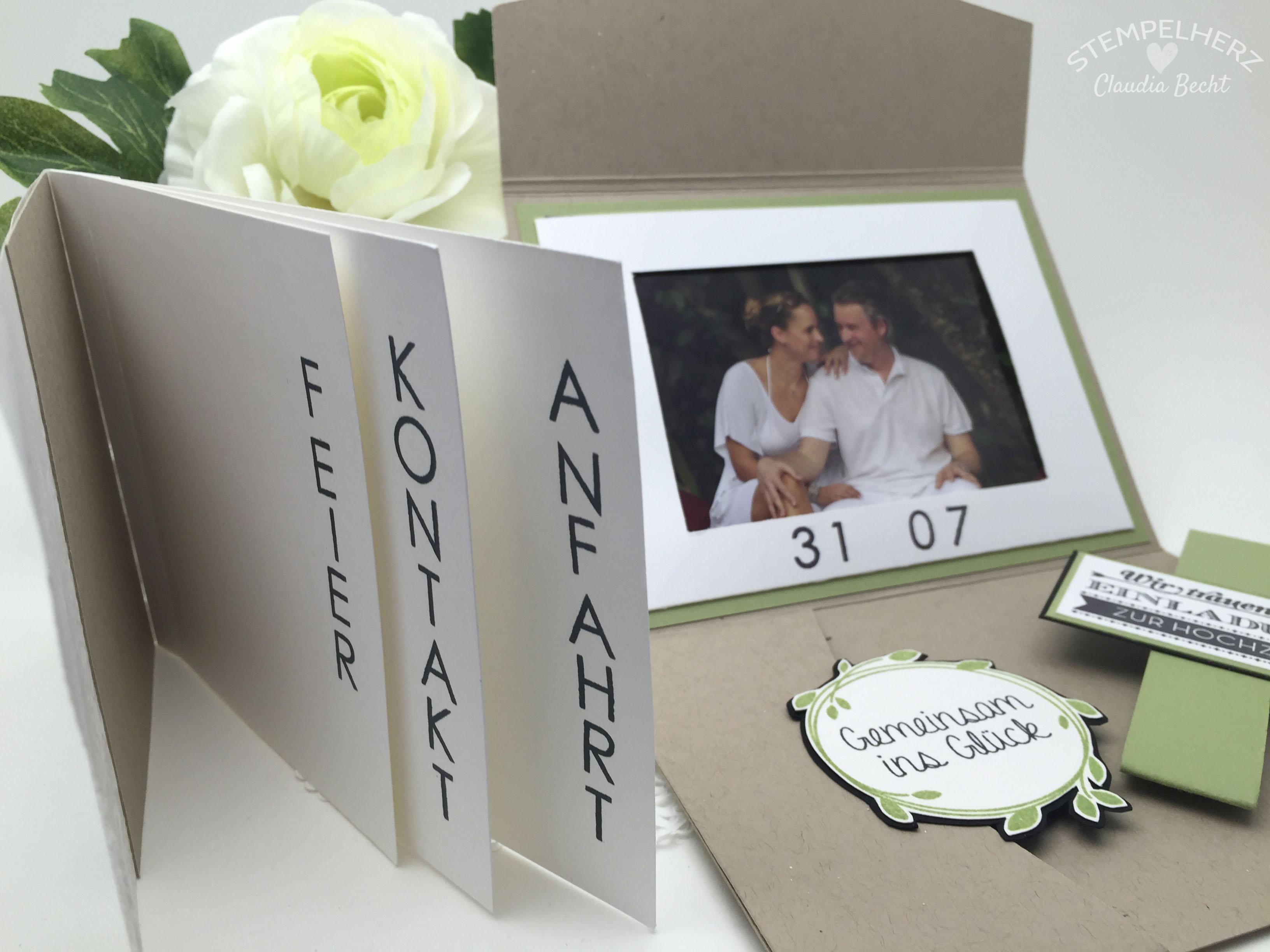 Stampin Up Stempelherz Hochzeit Hochzeitseinladung Einladung Karte  Hochzeitseinladung Wir Trauen U2026