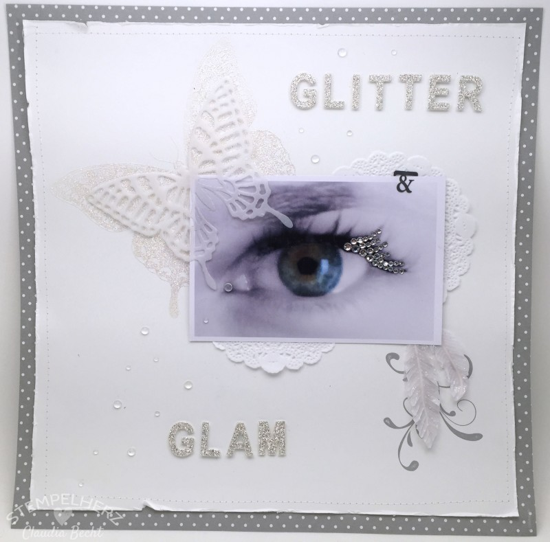 Stampin Up-Stempelherz-Layout-Scrapbooking-Inspiration & Art-Layout Glitter & Glam 1-01