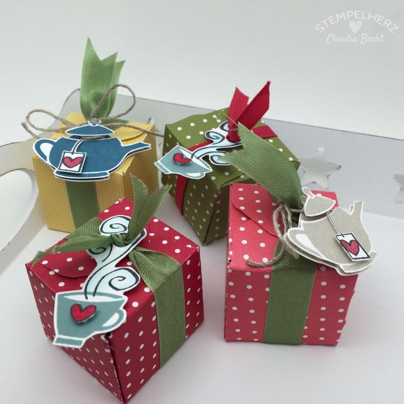 Stampin Up-Stempelherz-Verpackung-Schachtel-Box-Geschenk-Tee-Envelope-Punchboard-Kleines Teegeschenk 03