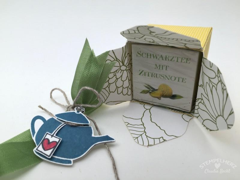 Stampin Up-Stempelherz-Verpackung-Schachtel-Box-Geschenk-Tee-Envelope-Punchboard-Kleines Teegeschenk 05